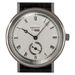 Breguet Classique Gents White Gold Silver Dial 3910 Manual Wind Wristwatch
