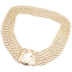 Cartier Penelope Double C Five-Row Wide Link Gold Necklace
