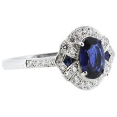 Sapphire and Diamond Ring, 18 Carat Gold
