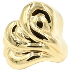 Wavy Fashion Ring 18 Karat Rose Gold, 38.2 Grams