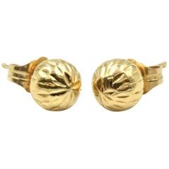 Ball Stud Earrings 14 Karat Yellow Gold