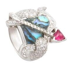 Ella Gafter Zodiac Sagittarius Ring with Diamonds