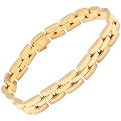 Cartier Maillon Panthere 18 Karat Yellow Gold Three-Row Link Bracelet