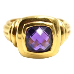 Amethyst Ring 18 Karat Yellow Gold