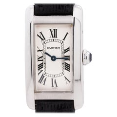 Cartier Ladies White Gold Tank American Quartz Wristwatch, circa 1990s