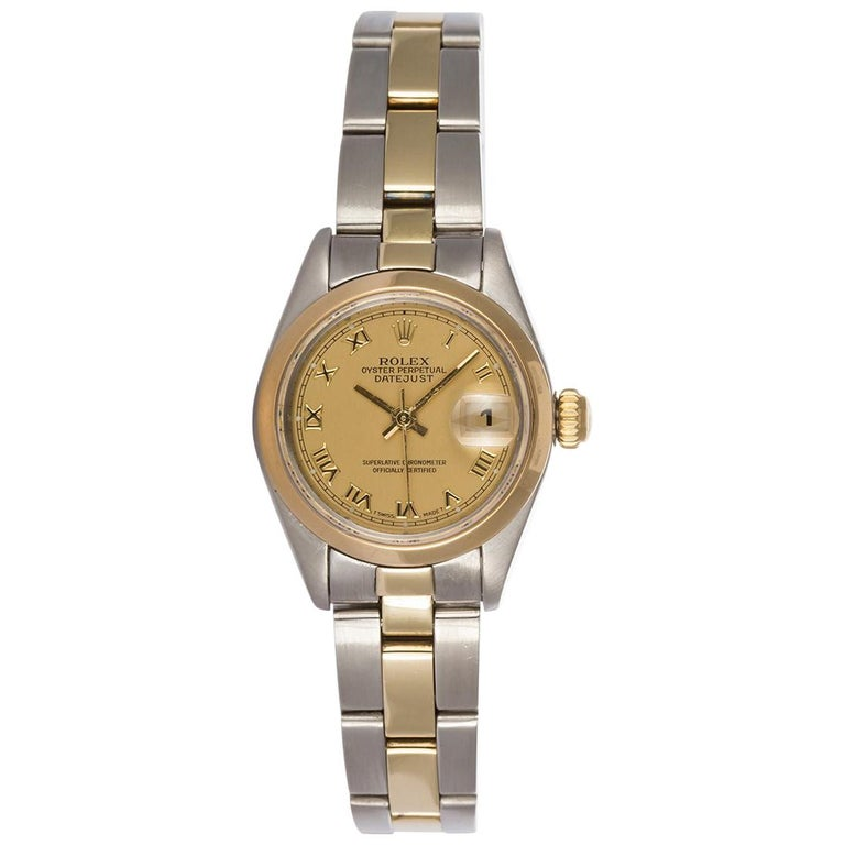 Rolex Ladies Two-Tone Datejust 79173 Roman Dial Automatic Watch