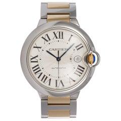 Cartier Yellow Gold Stainless Steel Ballon Bleu Automatic Wristwatch
