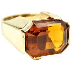Citrine Fashion Ring 14 Karat Yellow Gold
