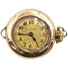 Hallmark yellow gold Vintage mechanical wind Pocket Watch