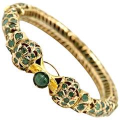 Vintage Emerald Bangle Bracelet