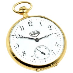 E. Howard Auburn Yellow Gold Vintage manual wind Pocket Watch