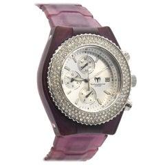 TechnoMarine Stainless Steel Rhinestone quartz Chronograph Wristwatch