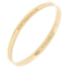 Tiffany & Co. '1837' Solid Gold Bangle, circa 1997