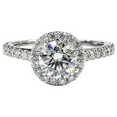 1.62 Carat Round Brilliant Cut Diamond Ring GIA Certified Platinum Set