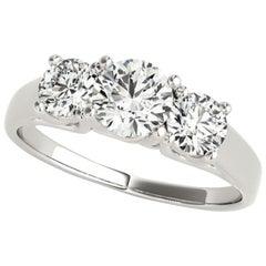 1.15 Carat Round Brilliant Cut Three-Stone Diamond Ring GIA Certified
