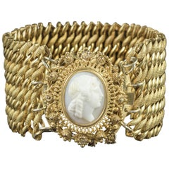 Antique Georgian Cameo Bracelet Pinchbeck, circa 1810