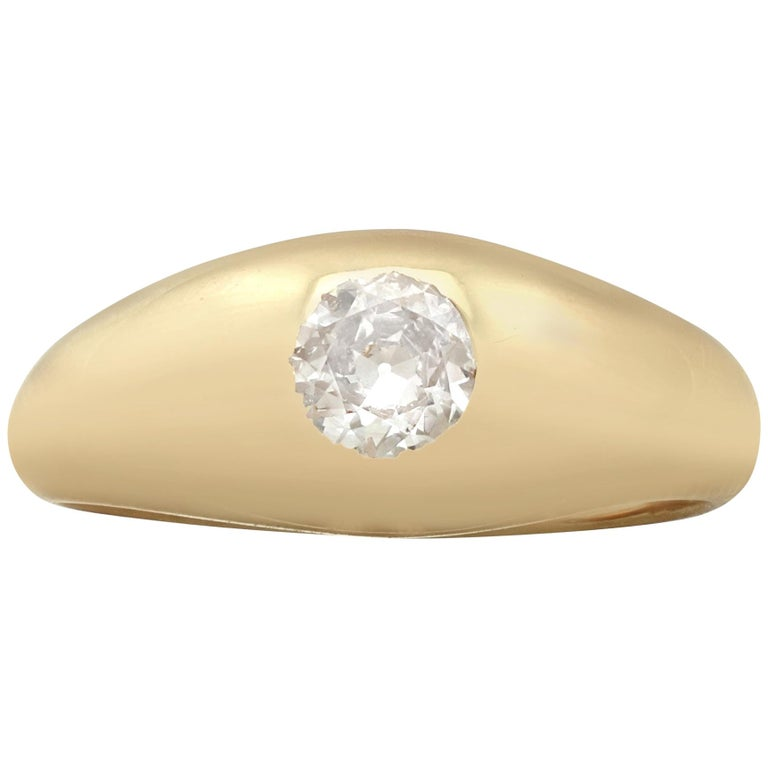 1900s Diamond Yellow Gold Gent's Ring