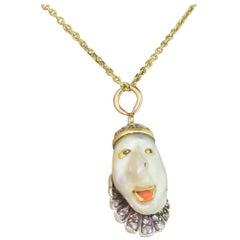 """Victorian Natural Baroque Pearl """"Jester"""" Pendant"""