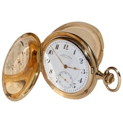 A. Lange & Söhne Glashütte Yellow Gold Hunter Pocket Watch