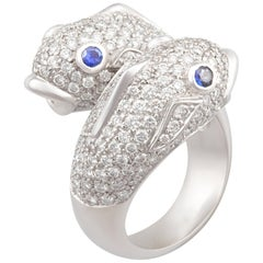 Ella Gafter Zodiac Pisces Ring with Diamonds and Sapphire