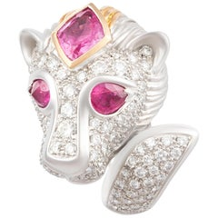 Ella Gafter Zodiac Leo Ring with Pink Sapphire and Diamonds
