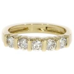 Five Stones Diamond Yellow Gold Ring