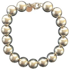 Tiffany & Co. Sterling Silver Beaded Ball Bead Bracelet