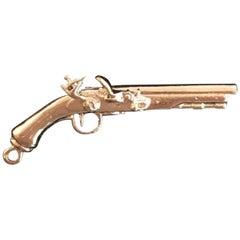 Vintage Sterling Silver Gun Charm or Pendent
