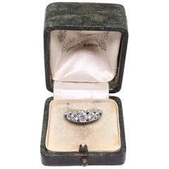 Modern Art Deco Style Platinum 1.25 Carat Diamond and Sapphire Ring