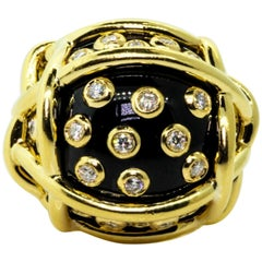 Verdura Polka Dot Gold Ring