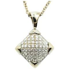Bulgari Diamond Pendant and Chain