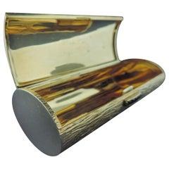 18 Karat Yellow Gold Lipstick/ Make Up Case