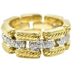 18 Karat Yellow Gold, David Yurman Diamond Fashion Band