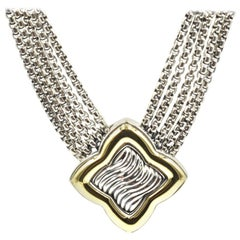 David Yurman Two-Tone Quatrefoil Box Chain Necklace