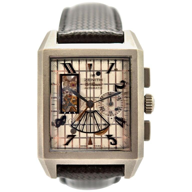 Zenith Titanium Grande Port-Royal Open El Primero Concept automatic Wristwatch