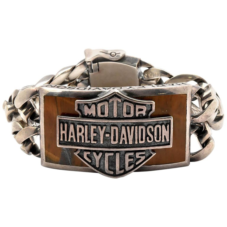 Harley Davidson Thierry Martino Sterling Silver Bracelet  For Sale