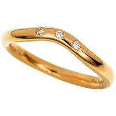Tiffany & Co. Diamond 18 Karat Pink Gold Carved Band Ring