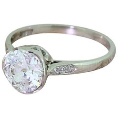 Art Deco 1.26 Carat Old Cut Diamond Engagement Ring