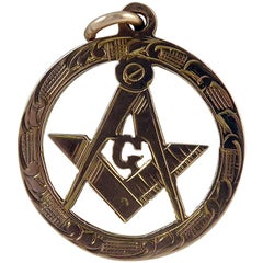 Freemasons' Gold Fob, Hallmarked Chester, 1915