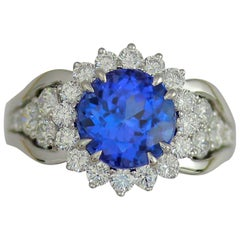 Frederic Sage 3.84 Carat Tanzanite Diamond Ring