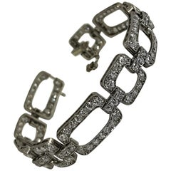 French Art Deco Platinum and Diamond Bracelet