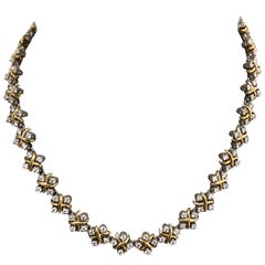 "Schlumberger for Tiffany & Co. Platinum 18K Gold and Diamond ""Lynn"" Necklace"