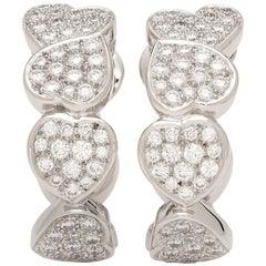 Fred of Paris Diamond and 18 Karat White Gold Earrings