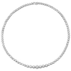 6.03 Carat Round Diamond Bezel Rivieré Necklace