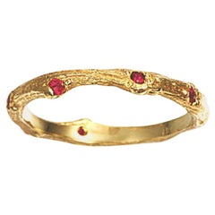 Ring in Yellow Gold with Rubies
