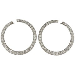 Vintage Cartier Platinum and Diamond Earrings