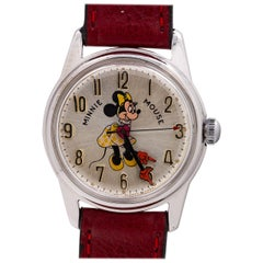 Helbros chromium plated Minnie Mouse manual wind Wristwatch, circa 1970s