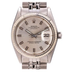 "Rolex Stainless Steel Datejust ""Fat Boy"" Self-Winding Wristwatch, circa 1969"
