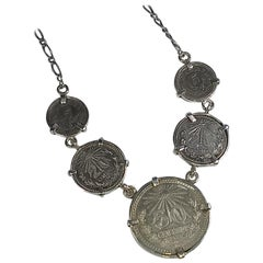 Alberto Juan Mexican Handmade Sterling Silver Coin Necklace