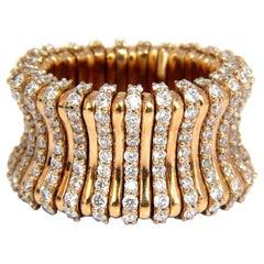 3.50 Carat Natural Diamond Adjustable Flexible Diamonds Eternity Band 18 Karat